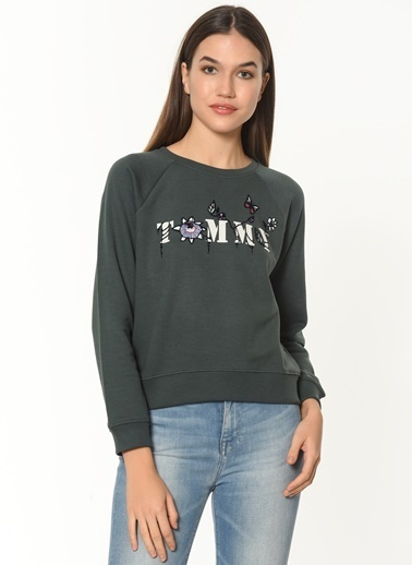 Tommy Hilfiger Sweatshirt Yeşil